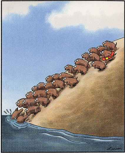 Source: Gary Larson – Where's Your Preserver?