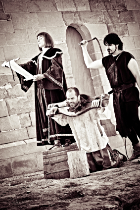 Medieval public beheading