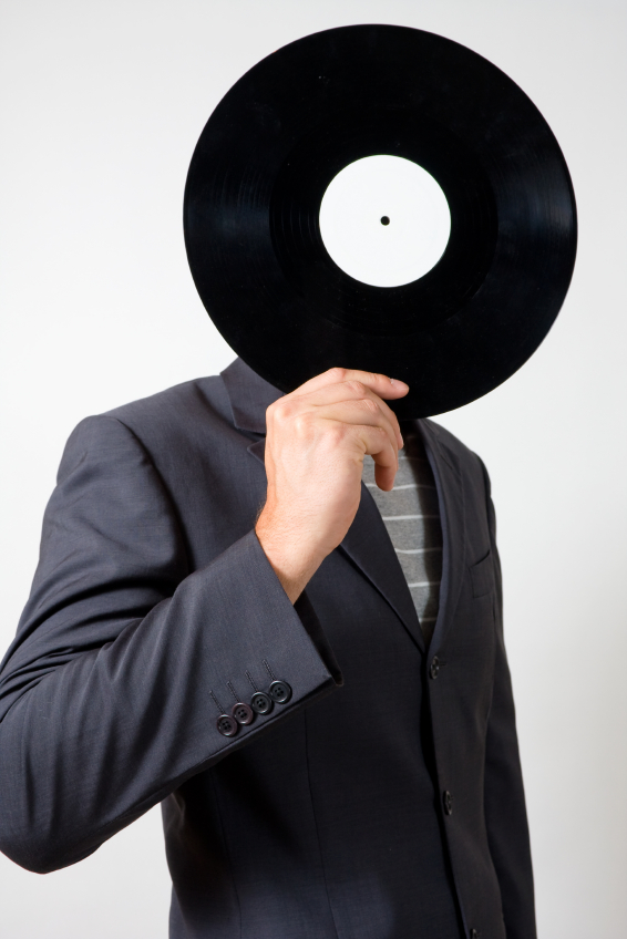 The suit man and vinyl.